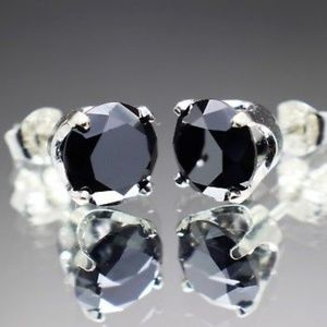Jewelry - 2.40cts Real Black Diamond Stud Earrings